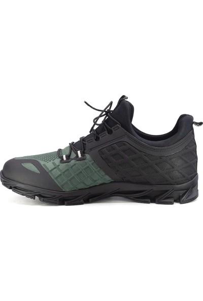 Scootland 152-11328 Erkek Deri Spor Ayakkabı Yeşil