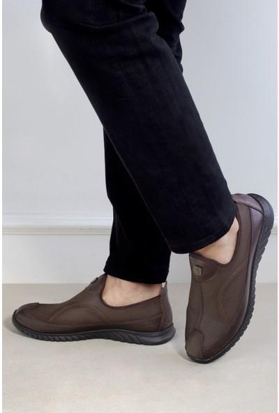 20Y Marcomen 152-11333 Erkek Deri Günlük Ayakkabı Kahverengi