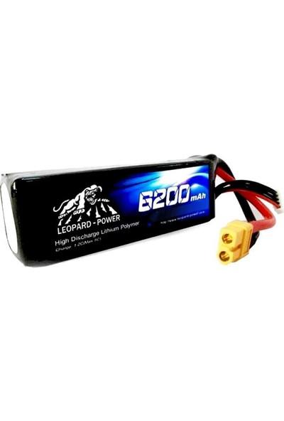 Leopard Power 6200 Mah 7,4V 2s 30C Lipo Batarya
