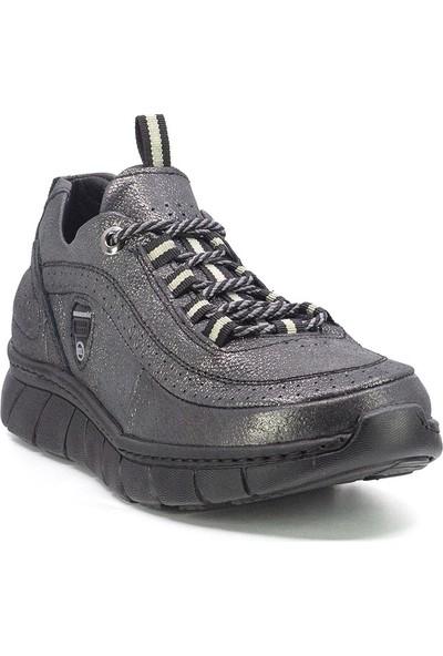 Mammamia D20YA-320 Kadın Deri Spor Ayakkabı Platin
