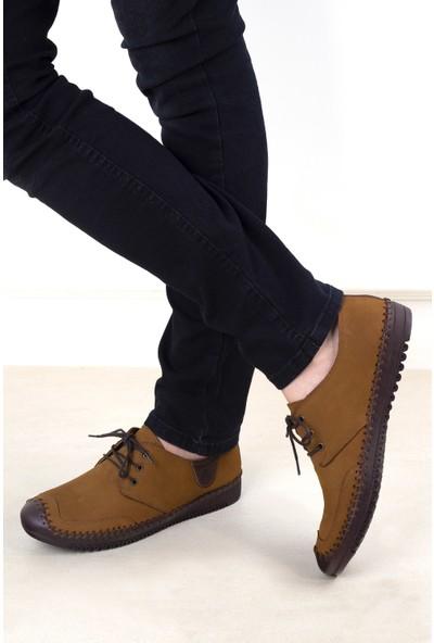 Mammamia D20YA-7070 Erkek Deri Ayakkabı Tarçın