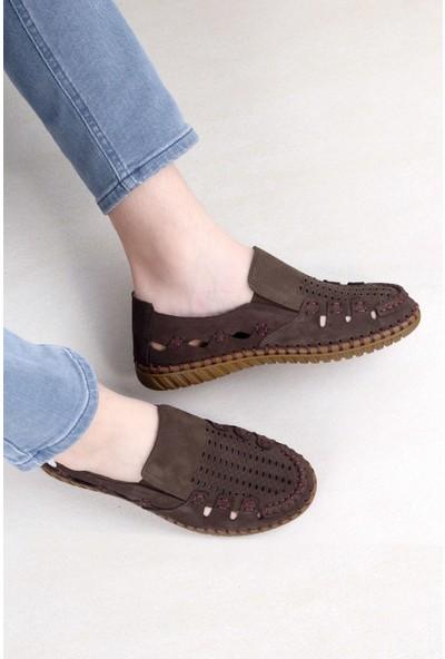 Mammamia D20YA-7125 Erkek Deri Ayakkabı Kahverengi