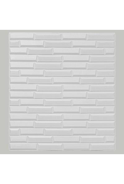 Renkli EvimKendinden Yapışkanlı Duvar Paneli Piramit Beyaz