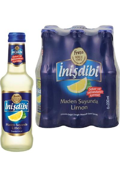 Freşa Inişdibi Maden Suyu Limon Aromalı 200 ml x 6 Adet