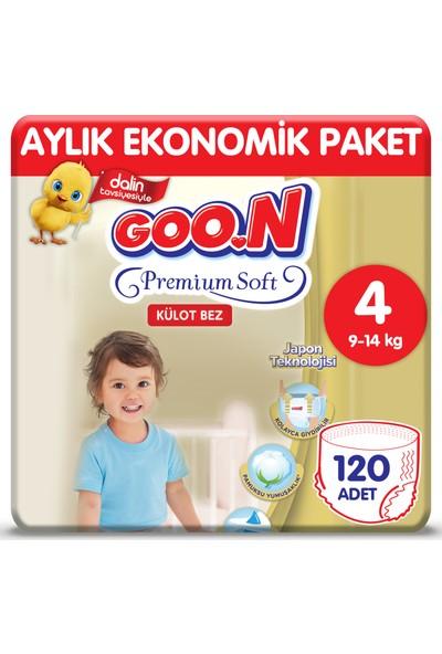 Goon Premium Soft Külot Bez 4 Beden Aylık Ekonomik Paket 120 Adet