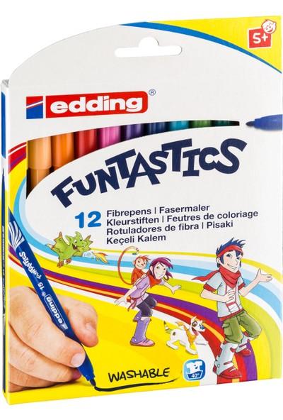 Edding Funtastics Keçe Uçlu Kalem İnce 12'Li Set
