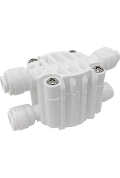 E-Water Su Arıtma Cihazı Shut-Off Valf 4 Yollu Vana Quick Bağlantılı