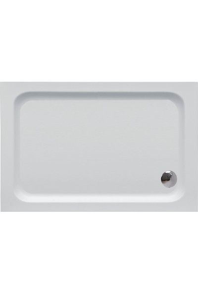 Cybele Asya Di̇kdörtgen Monoblok Duş Teknesi̇ 70 x 140 cm Beyaz