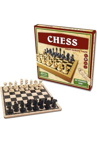 Star Chess Ahşap Satranç Takımı Plastik Satranç Taşlı