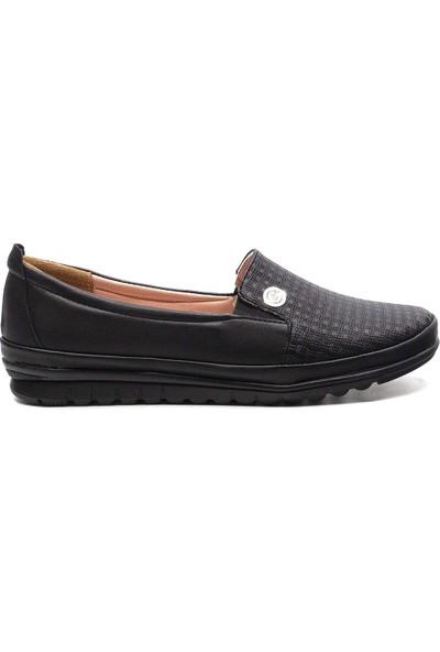 Eşle Ayakkabı 20Y Gnd 101-2 Kadın Günlük Babet Siyah