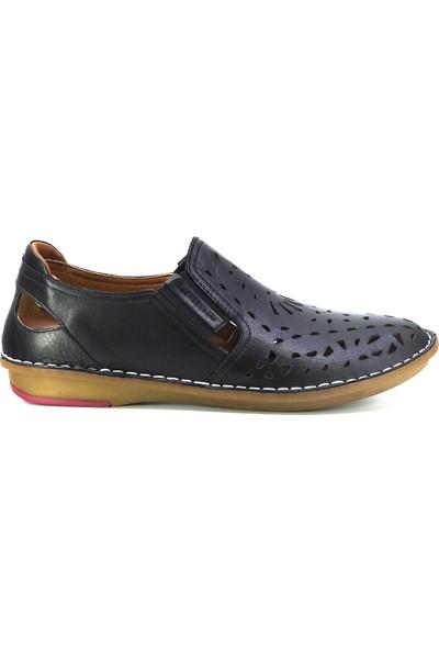 Eşle Ayakkabı 20Y 111 1009 Kadın Deri Ayakkabı Siyah