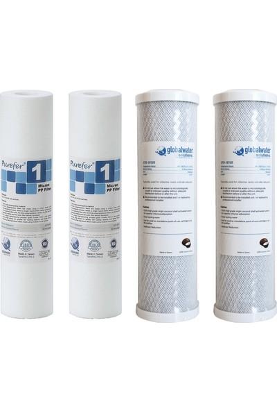Global Water Solutions Cto Aktif Karbon Ön Filtre Seti 4'lü