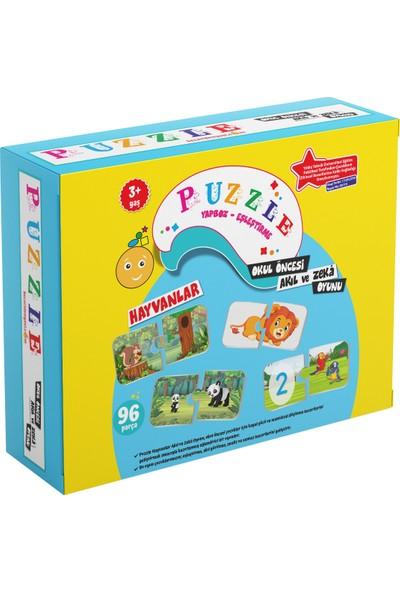 Beceri Dünyası Hayvanlar Puzzle ve Zeka Oyunu