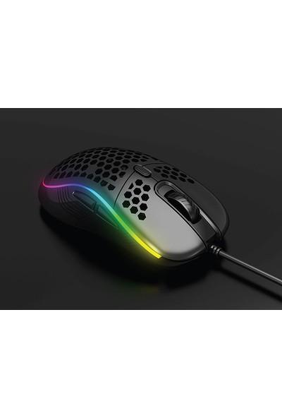 Rampage SMX-R85 Gentle RGB Makrolu Oyuncu Mouse