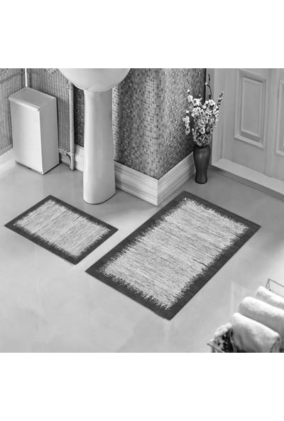 Halıforum Banyo Halısı İkili Klozet Takımı Kaymaz Tabanlı Bhs-222
