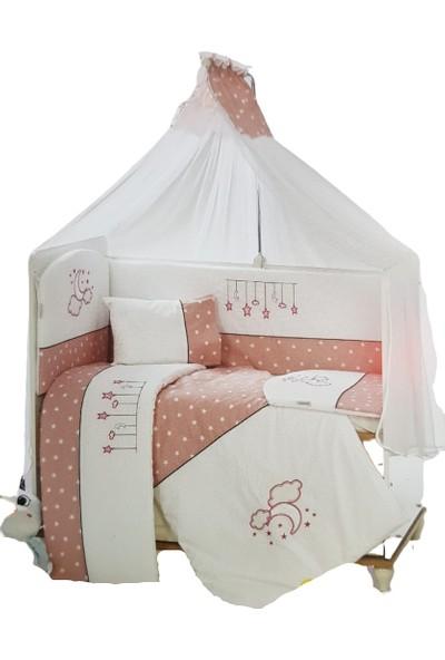 Aras Bebe Beşik Yıldızlı Uyku Seti 70 x 130 cm - Pudra