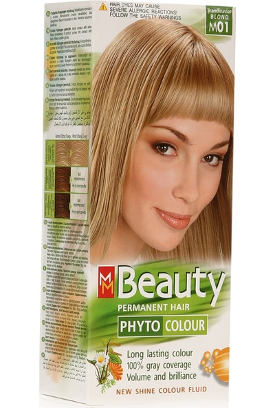 Bitkisel Saç Boyası M01 Platin Kumral 110 gr (50 gr Boya Tüpü, 60 gr Oksitleyici)