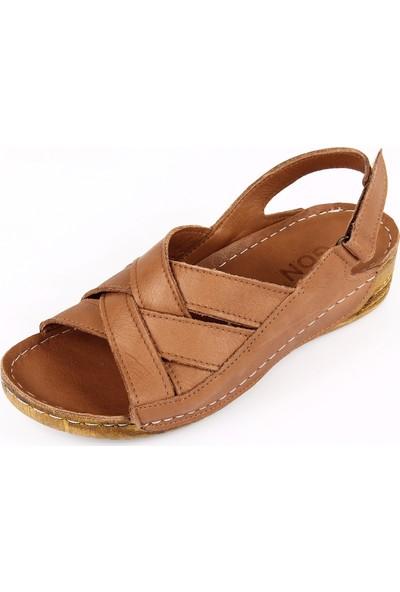 Gön Deri Kadın Sandalet 42310