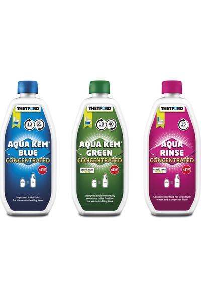 Thetford Aqua Kem Blue Tuvalet Kimyasalı - Katı Atık Parçalayıcı
