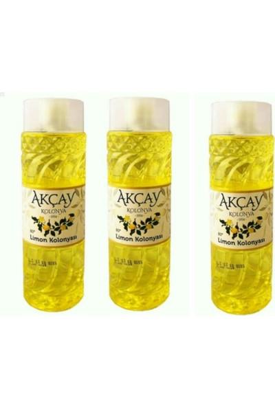 Akçay Limon Kolonyası 80 Derece 400 ml 3 Adet
