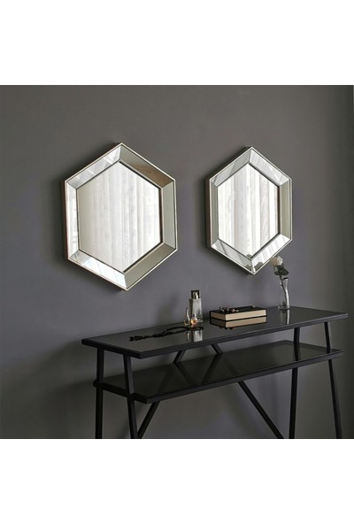 Neostill 2'li Dekoratif Ayna Altıgen