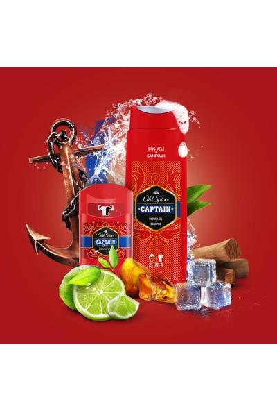 Old Spice Duş Jeli & Şampuan 400 ml + Deo Stick 50 ml x 2 Captain