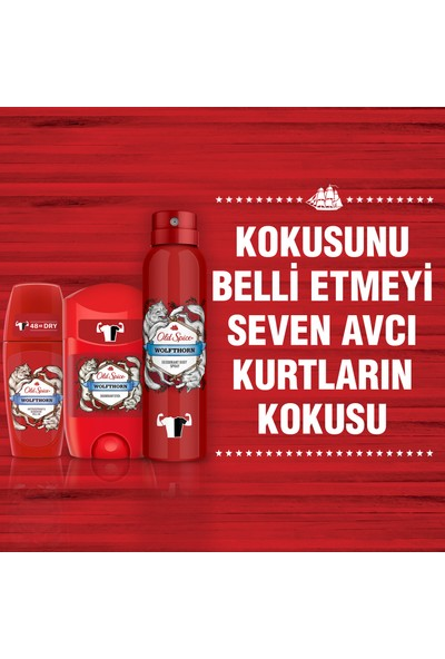 Old Spice Deo 150 ml + Deo Stick 50 ml + Roll On Wolfthorn 50 ml