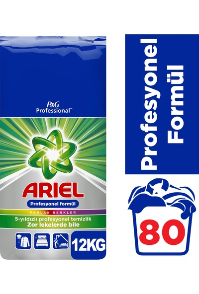 Ariel Professional 12 Kg Parlak Renkler Toz Çamaşır Deterjanı PGP