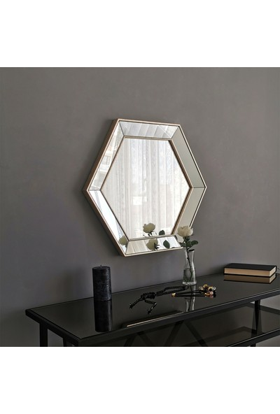 Neostill Dekoratif Altıgen Ayna