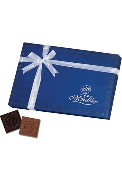 Elit Sütlü ve Bitter Madlen Çikolata Lacivert