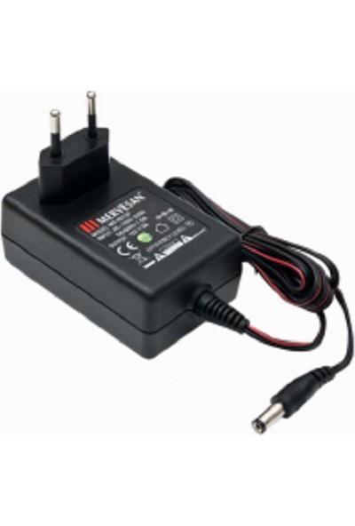 Mervesan Priz Modeli AC/DC SMPS Adaptörler 12 Volt 1.5 Amper 18 Watt