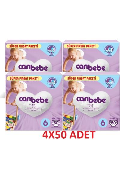 Canbebe Bebek Bezi 6 Beden 4 x 50'li (200 Adet)