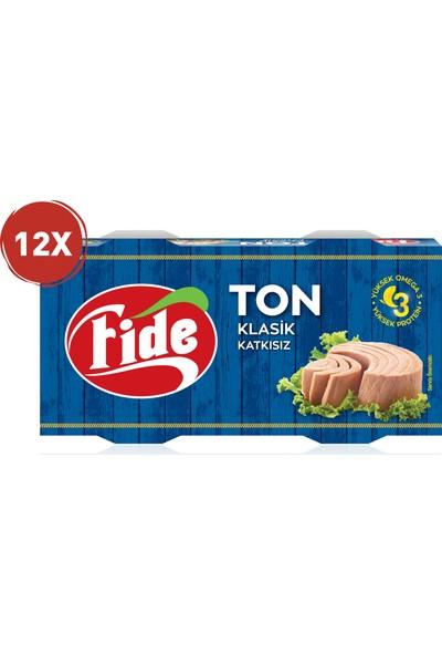 Fide Bütün Dilim Ton Balığı Klasik 2 x 160 gr 12 Paket (24 Teneke)