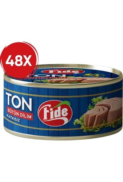 Fide Bütün Dilim Ton Balığı Klasik 160 gr (48 Teneke)