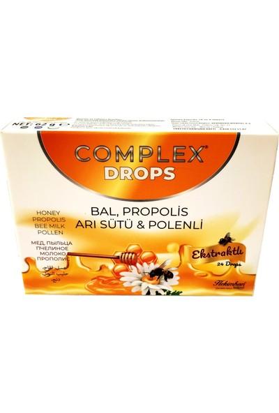 Complex Drops Bitkisel Boğaz Pastili Bal, Propolis, Arı Sütü & Polenli 24 Drops