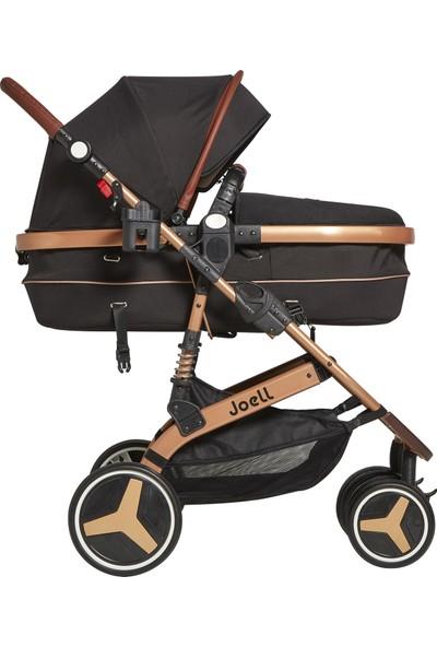 Joell Truva Travel Sistem Bebek Arabası Gold Siyah