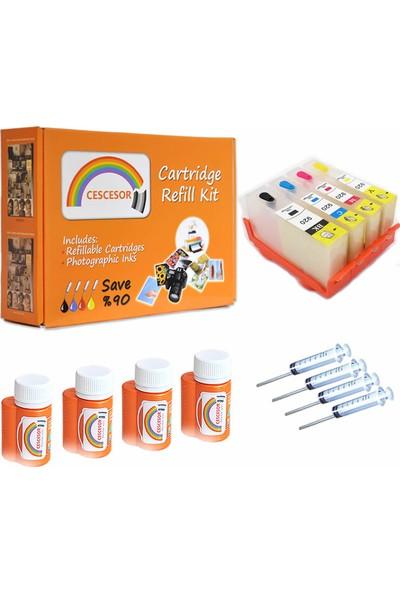 Cescesor Muadil 920 Uyumlu Kartuş Dolum Seti - 4 Renk