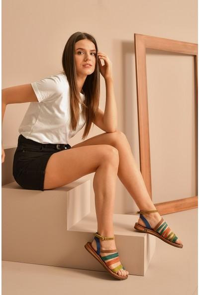 Ziya Deri Kadın Sandalet 10183 090 Multi