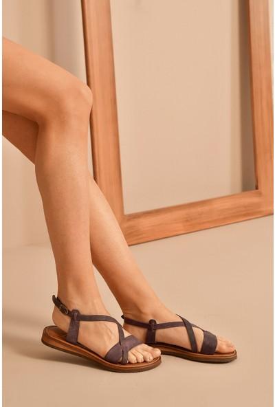 Ziya Deri Kadın Sandalet 10183 145 Mor