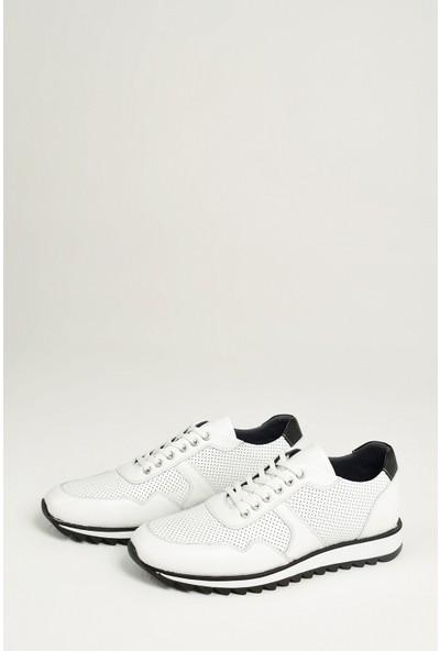 Ziya Erkek Deri Ayakkabı 101415 668235 Beyaz