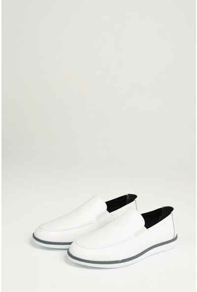 Ziya Erkek Deri Ayakkabı 101415 668244 Beyaz