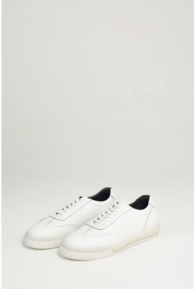 Ziya Erkek Deri Ayakkabı 101415 668253 Beyaz