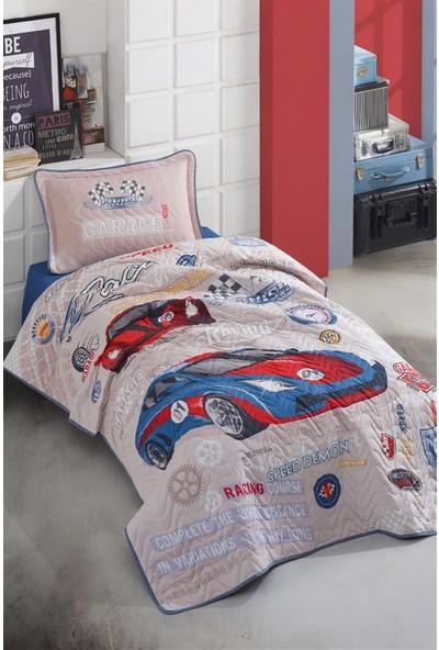 Clasy Genç Yatak Örtüsü Garage Mavi