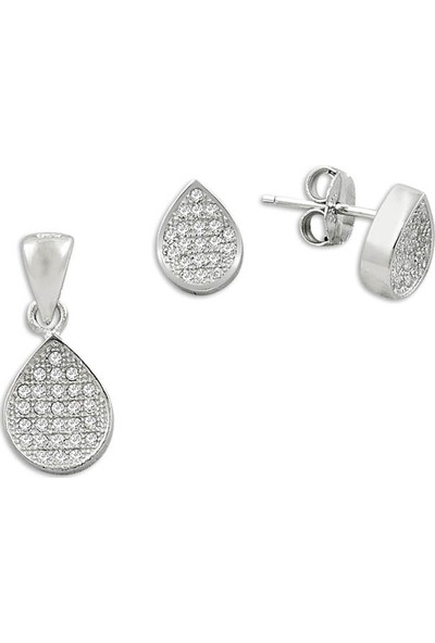 Silverella Gümüş 925 Ayar Zirkon Taşlı Set