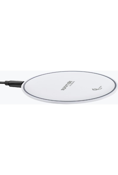 Promate Aurapad-3 Kablosuz Şarj Aleti Wireless Qi LED Işıklı Ultra ince