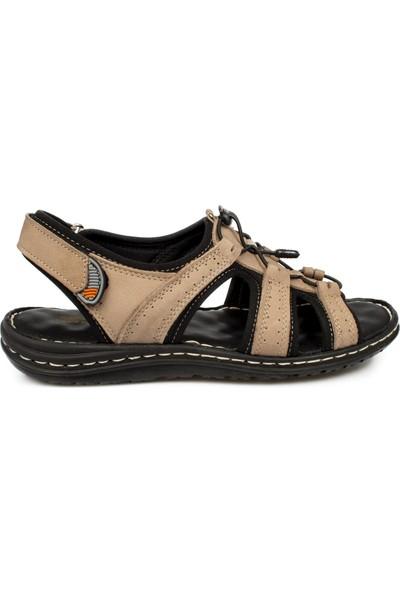 Muya 98022 M Akıllı Bağcik Kum Erkek Sandalet