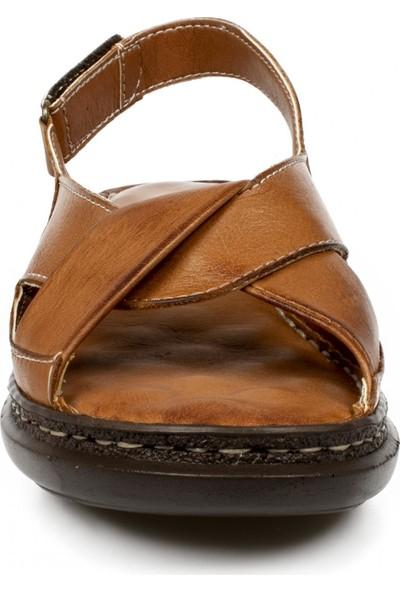 Belox 204Z Hakiki Deri Anatomik Taba Kadın Sandalet