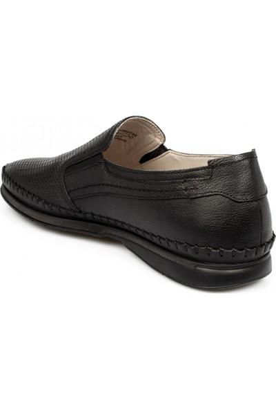 Polaris 102062 M 5 Nokta Hakiki Deri Siyah Erkek Ayakkabı