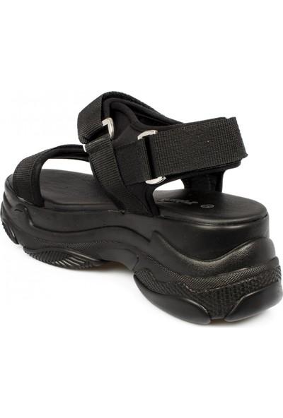 Polaris 315747 Z Fashion Siyah Kadın Sandalet