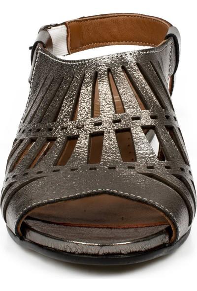 Stella 20218Z Fashion Platin Kadın Sandalet